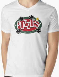 PUZZLES BAR - NO LAST CALLS! Mens V-Neck T-Shirt