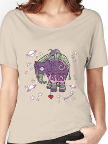 Interstellar Elephant Tee Women's Relaxed Fit T-Shirt