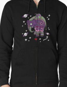 Interstellar Elephant Tee Zipped Hoodie