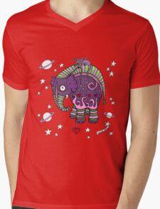 Interstellar Elephant Tee Mens V-Neck T-Shirt
