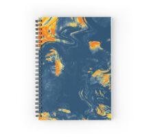Abstract Liquid print - Orange/Blue  Spiral Notebook