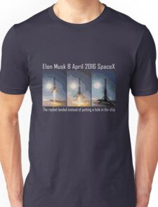 SpaceX rocket landing Unisex T-Shirt