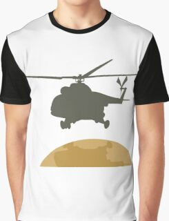 Helicopter flying design Graphic T-Shirt