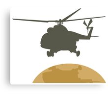 Helicopter flying design Canvas Print