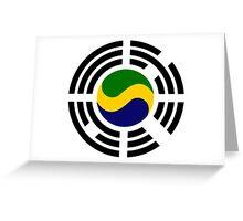 Korean Gabonese Multinational Patriot Flag Series Greeting Card