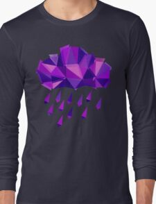 Purple Rain Pattern - Dark version Long Sleeve T-Shirt
