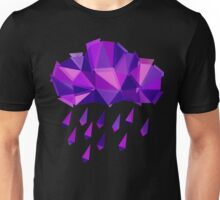 Purple Rain Pattern - Dark version Unisex T-Shirt