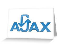 ajax programming language Greeting Card