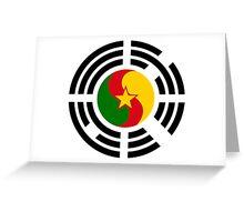 Korean Cameroonian Multinational Patriot Flag Series Greeting Card