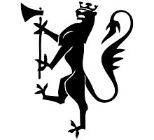 Mythical creature griffin silhouette Photographic Print