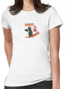 Pingu - NOOT! NOOT! Womens Fitted T-Shirt