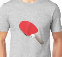 Table tennis red bat and ball Unisex T-Shirt