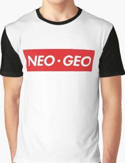 """Neo Geo """"sup"""" Style Graphic T-Shirt"""