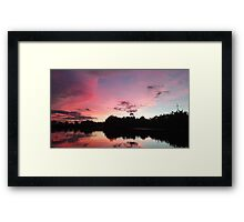 a beautiful sunset in Asia Framed Print