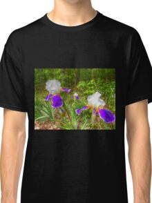 Bi-color Iris Blooms And Buds Classic T-Shirt
