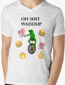 oh shit waddup here come dat boi meme Mens V-Neck T-Shirt