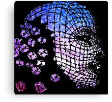Future Face Pixel Away Canvas Print
