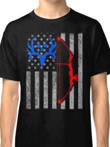 american bow hunting USA flag Classic T-Shirt