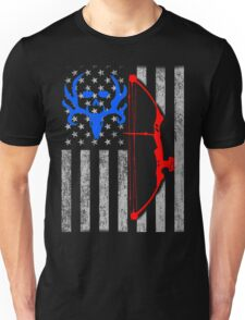 american bow hunting USA flag Unisex T-Shirt