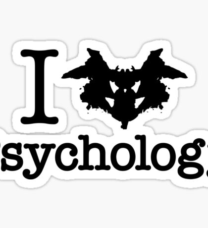 I Heart (Rorschach Inkblot) Psychology Sticker