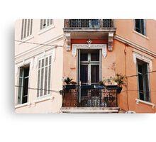A Pretty Balcony (Sainte-Maxime) Canvas Print