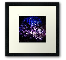 Future Face in Space Framed Print