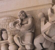 Stone Carvings at the National Cathedral Washington D.C Sticker