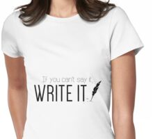 Writing urges #2 Womens Fitted T-Shirt