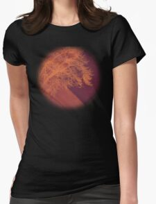 Sunset on the Plains Womens Fitted T-Shirt
