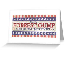 He Just Felt Like Running. Greeting Card