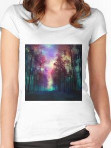 Magical Forest Women's Fitted Scoop T-Shirt