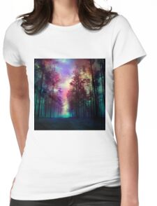 Magical Forest Womens Fitted T-Shirt