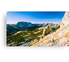 mountain peak in a summer day Canvas Print