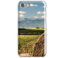 hay bale in the fields iPhone Case/Skin