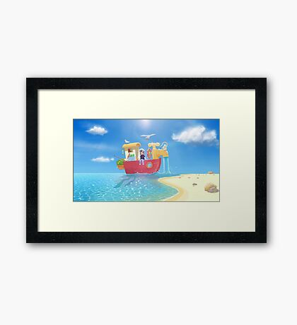 The Go Anywhere Boat Framed Print