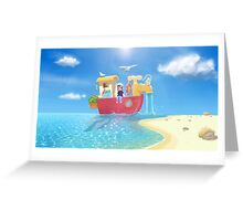 The Go Anywhere Boat Greeting Card