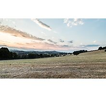 summer evening in the italian countryside Photographic Print