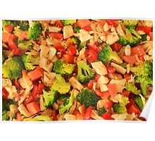 Broccoli Peppers and Chicken Poster