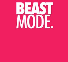 BEAST MODE. - ELECTRIC PINK Womens Fitted T-Shirt