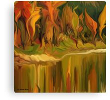 Autumn leaves ~ Abstract 28- wall art Art + Products Design  Canvas Print