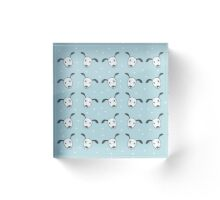 Seamless pattern of fancy simple puppy dog faces. For kids Acrylic Block