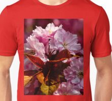 Copper leaves and Cherry blossom Unisex T-Shirt
