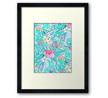 Pretty Pastel Hawaiian Hibiscus Print Framed Print