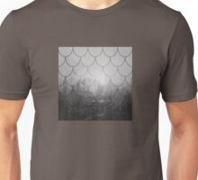 Dark forest. Black and white. Scales pattern Unisex T-Shirt