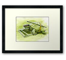 Science Turtle Framed Print