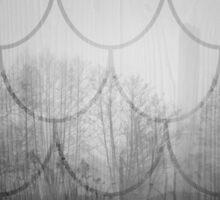 Dark forest. Black and white. Scales pattern Sticker