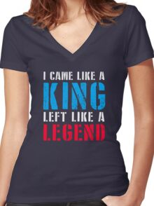 Zlatan left from PSG like a Legend Women's Fitted V-Neck T-Shirt