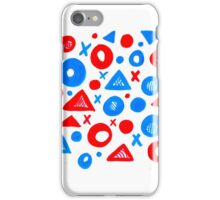 Geometric Patterns Blue and Red iPhone Case/Skin