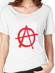 Anarchy Graffiti Women's Relaxed Fit T-Shirt