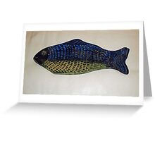 Fish Plate Greeting Card